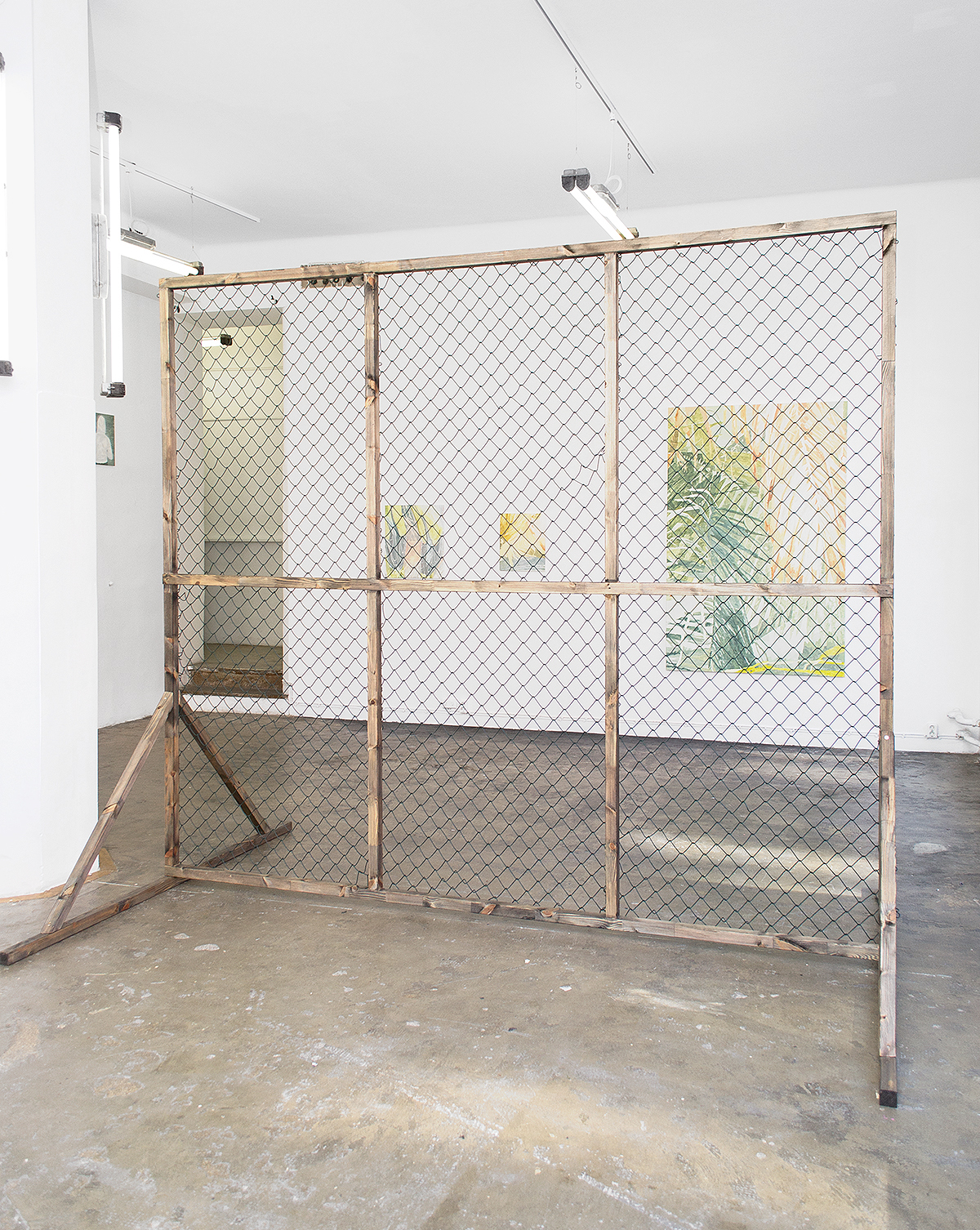 Lupine Wreath (2014), at Gallery Steinsland Berliner, Stockholm, Sweden. Installation view